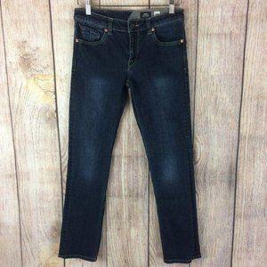 Volcom Vorta Slim Straight Dark Wash Jeans Sz 28